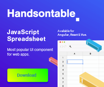 Handsontable JavaScript Spreadsheet Most popular component for web apps