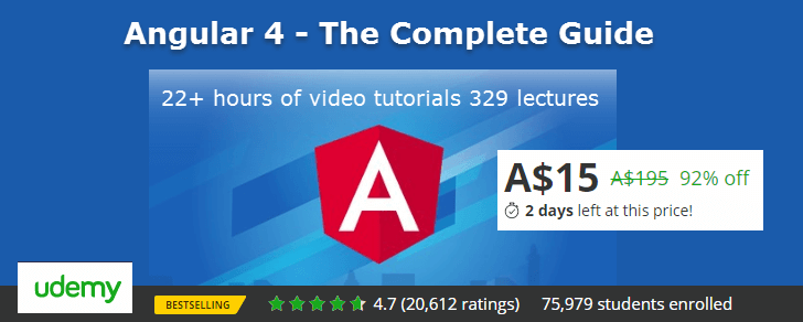 Angular 4 Video Tutorial by Udemy
