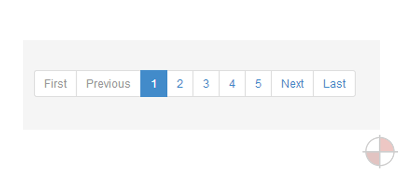 Simple AngularJS pagination.