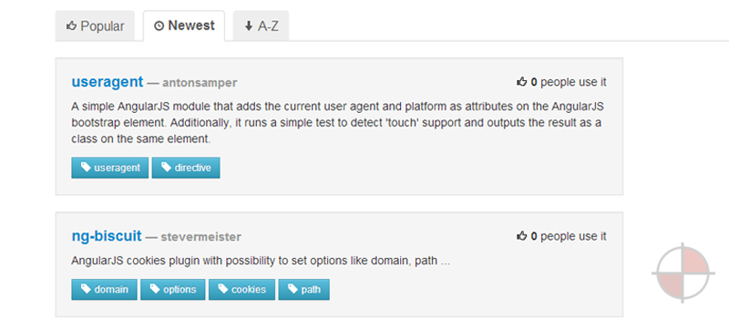 Find Modules for AngularJS.