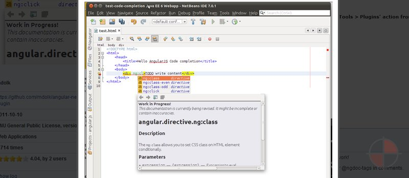 NetBeans plugin for AngularJS.