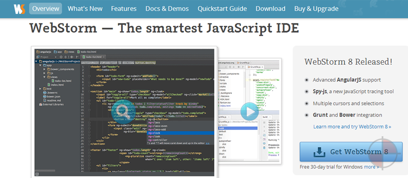 AngularJS Support for the Intellij Platform (WebStorm, PhpStorm, Rubymine, Intellij, etc..)
