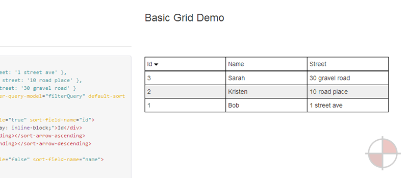 The first grid directive to support 100% declarative configuration.