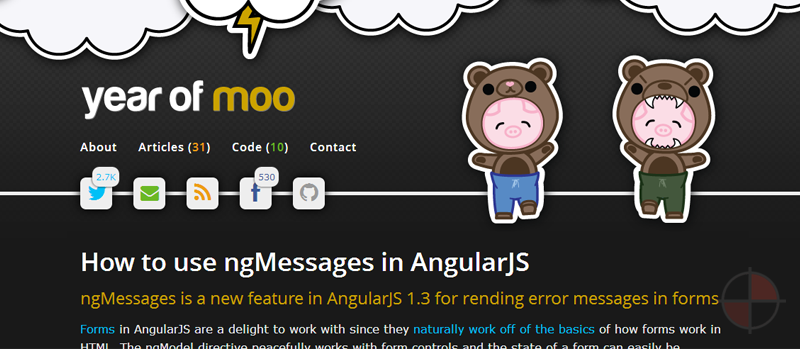 A starter AngularJS repository for getting started with AngularJS done by Yearofmoo.