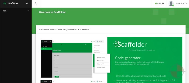 Scaffolder | A Powerful Laravel + Angular CRUD Generator
