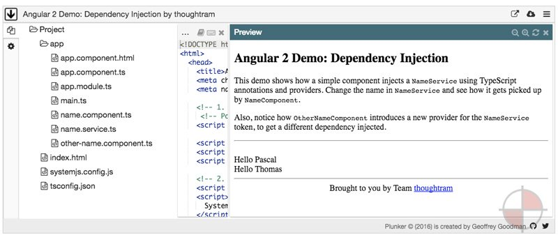 Dependency Injection in Angular 2