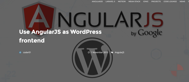 Using Angular APP to load WordPress content via WP API