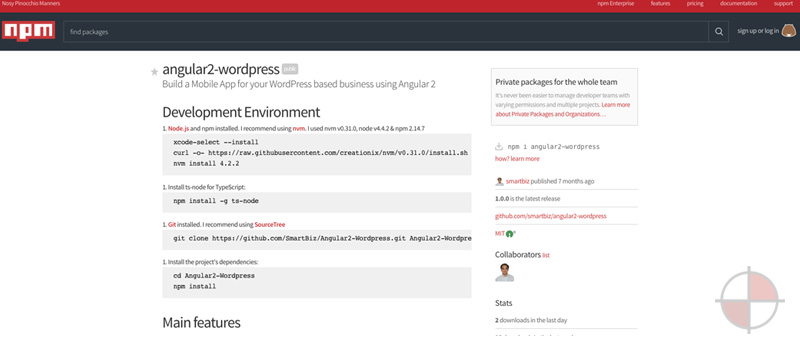 angular2 wordpress