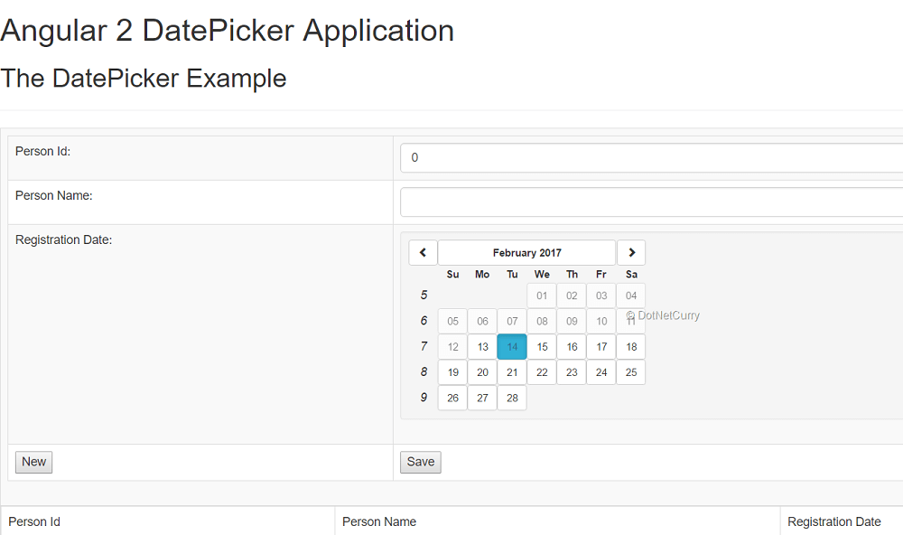 Angular 2 Boostrap Datepicker