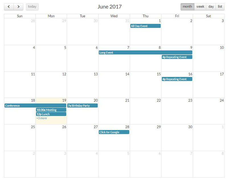 Angular 2 Full Calendar