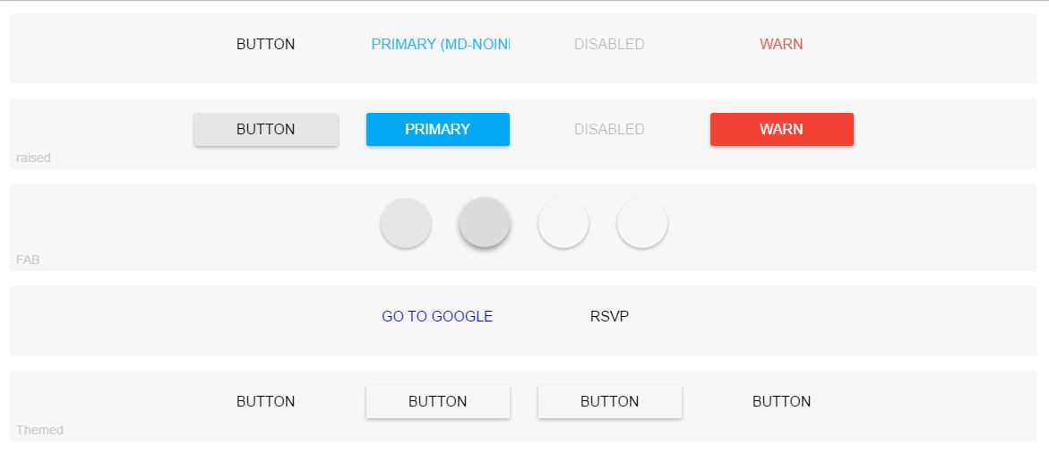 Angular 2 Material Buttons Examples - Plunkr