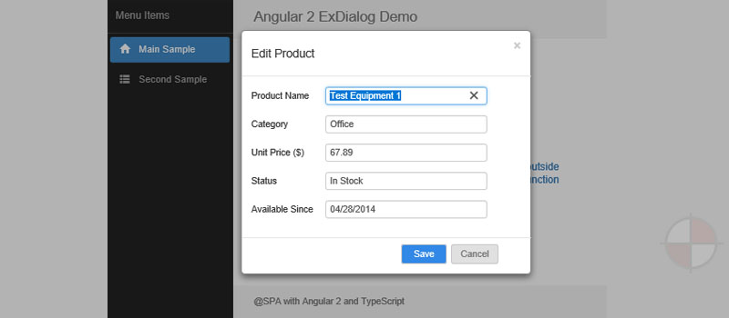 Angular 2 Modal Dialog with Advanced Functionality and Easy-use Features
