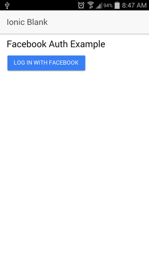 Ionic 2 Facebook Login Step-by-step