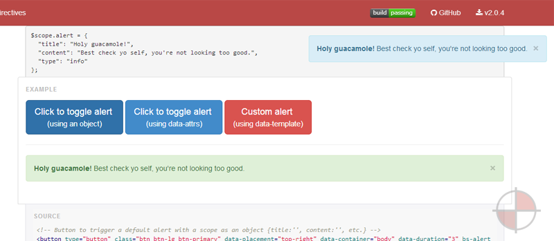 A set of native directives that enables seamless integration of Bootstrap 3.0+ into your AngularJS 1.2+ app.