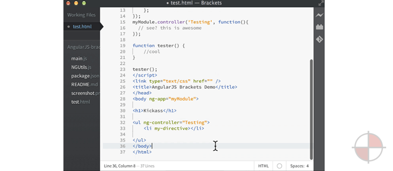 AngularJS plugin for Brackets (booya).