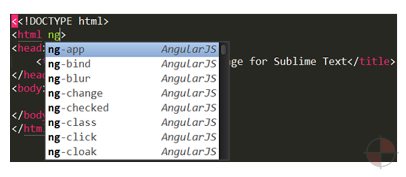 AngularJS code completion, snippets, go to definition, quick panel search, and more.