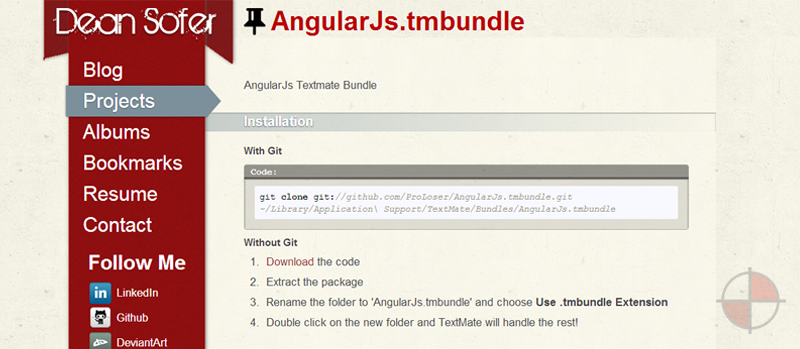 AngularJs Textmate Bundle.