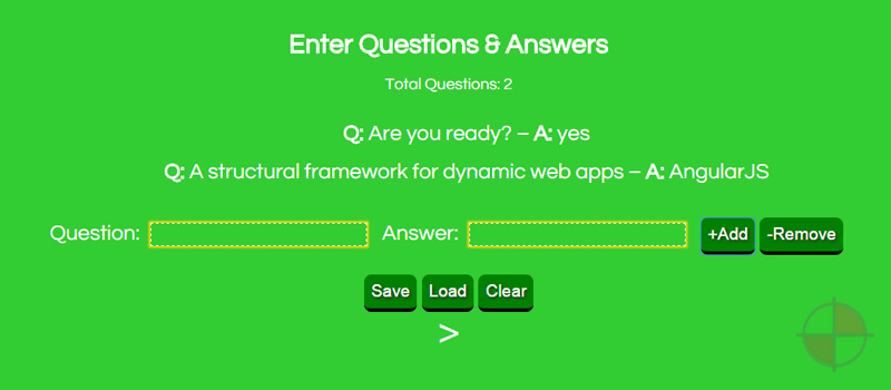 AngularJS Quiz Maker