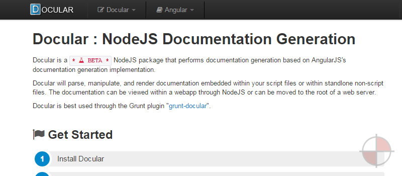 Build angularJS documentation with a grunt task.