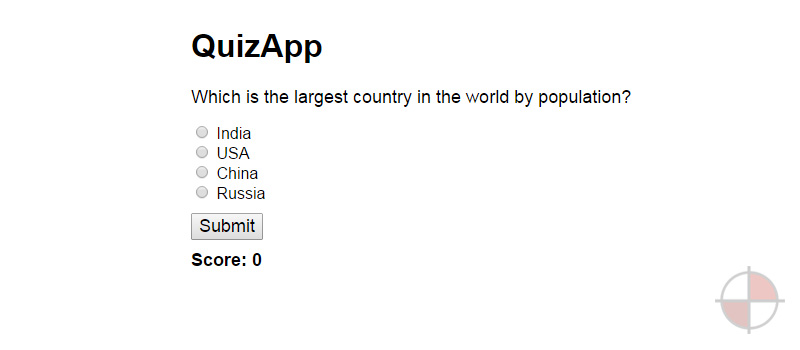This is a very simple quiz app using AngularJS.