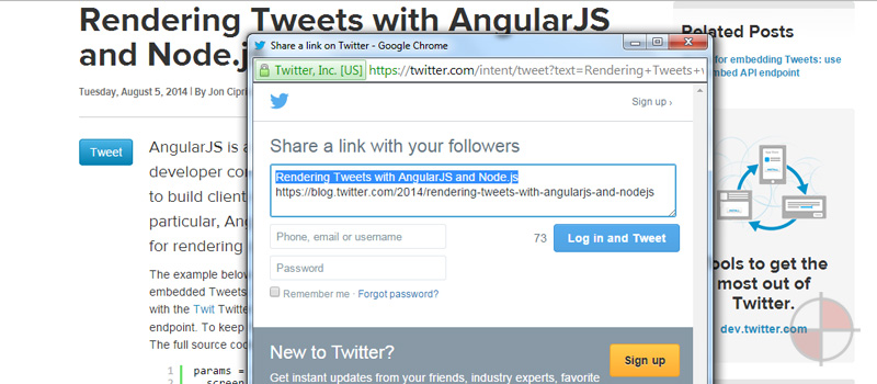 Angular's data-binding features are extremely useful for rendering data from the Twitter REST API.