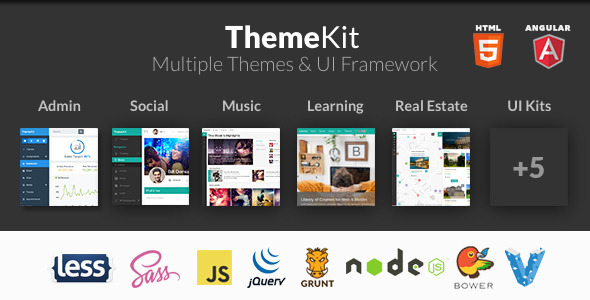With ThemeKit you get not only a theme