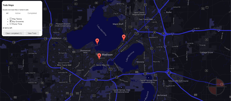Making google maps components with AngularJS. Awesome Demo.