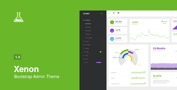 Xenon – is a lightweight responsive admin theme