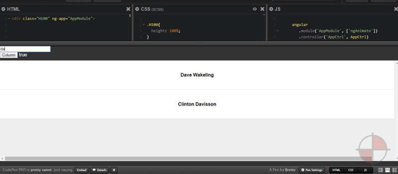 Example in code pen on how you might be able to animate transitioning of items in columns using AngularJS