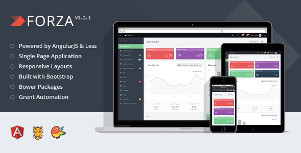Forza is a modern, forward-looking web application framework built with AngularJSand LESS.