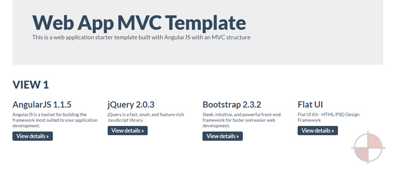 This is a web application starter template built with AngularJS with an MVC structure.