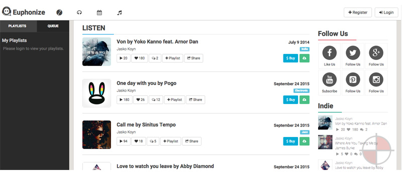 AngularJS-Music-Sharing-&-Social-Platform