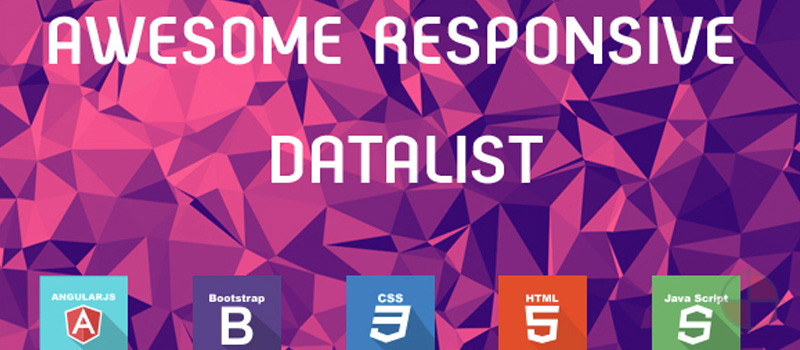 AngularJS Data List & Data Table