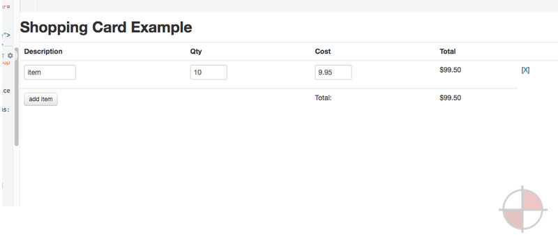 AngularJS Shopping Cart Example