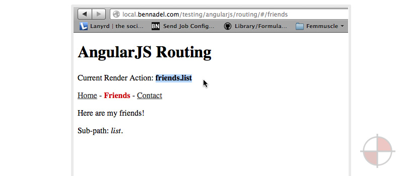 Mapping AngularJS Routes Onto URL Parameters