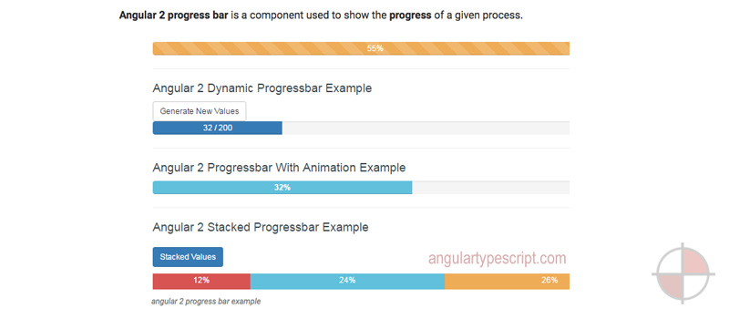 ANGULAR 2 PROGRESS BAR + TypeScript