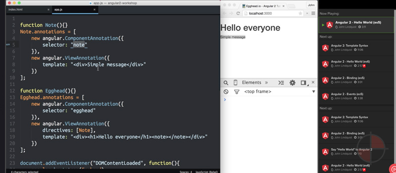 Angular 2 Hello World (es5)