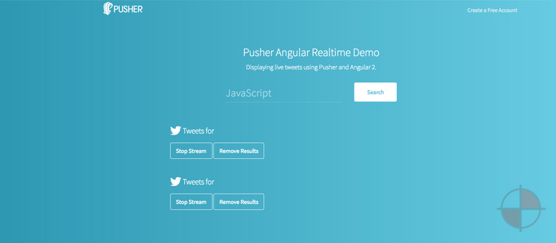 Angular 2 Pusher - Live Tweets
