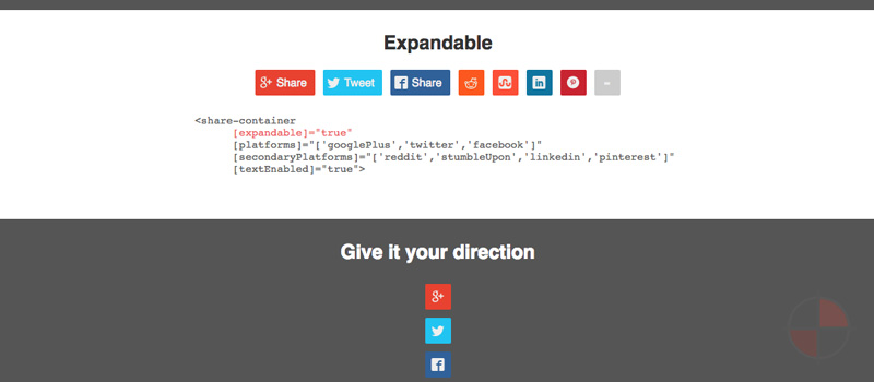 Angular 2 social medias share buttons