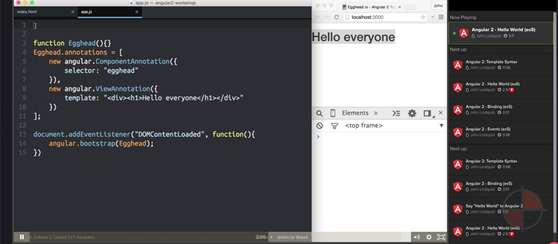 Hello World (es5)