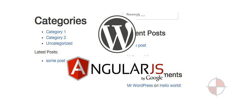 Single Page Angular Bootstrap WordPress