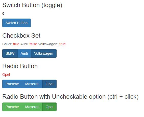 Angular 2 Button Examples