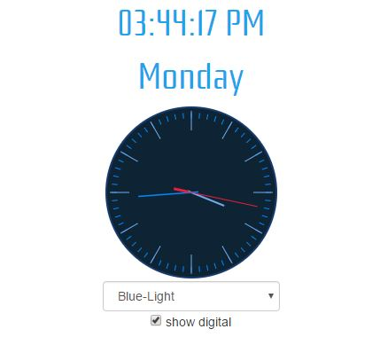 Angular 2 Clock