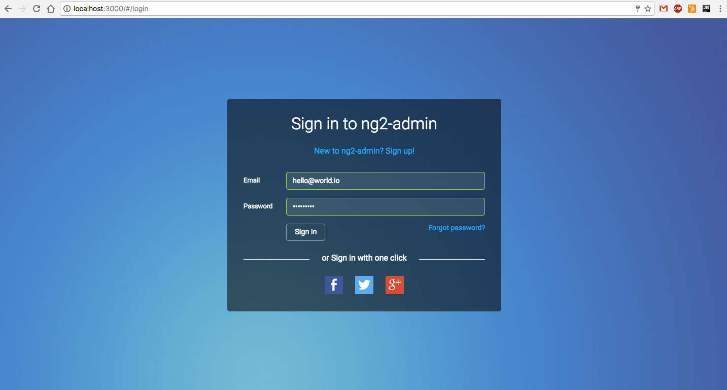 Angular 2 Dashboard Tutorial Facebook Authentication