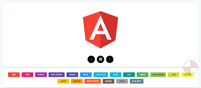 Angular 2 Logo Color Designer