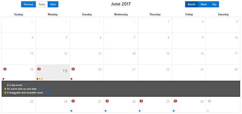 10+ Angular 2 Calendars | AngularJS 4U
