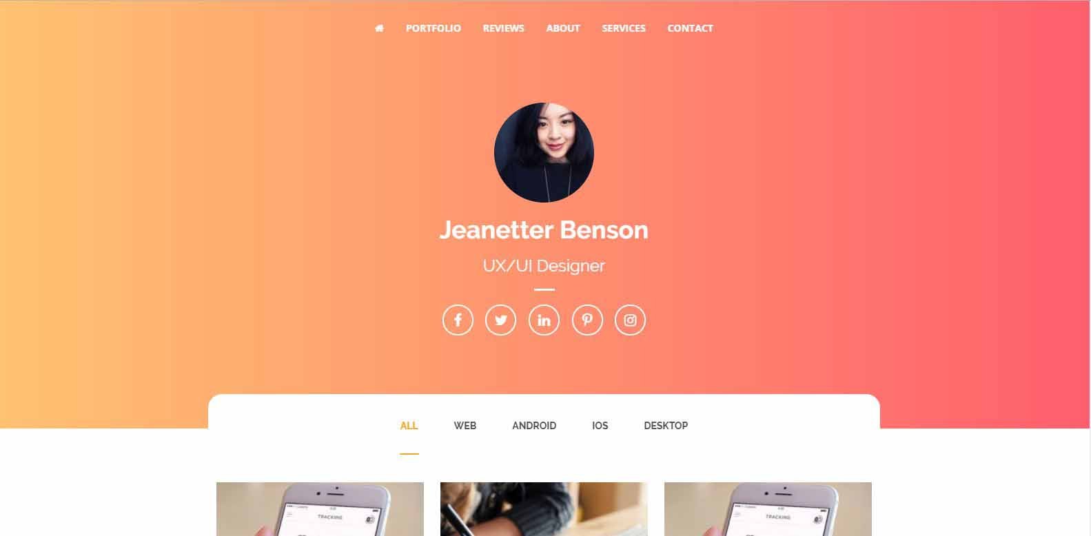 React - One Page Portfolio Responsive HTML 5 Template for Freelancers & Agencies