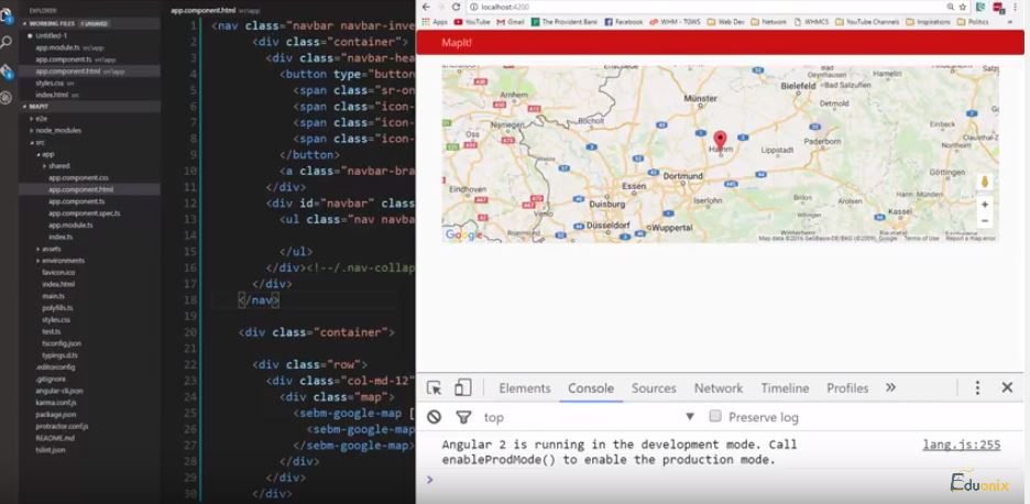 Build A Google Map App Using Angular 2