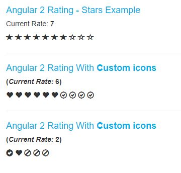 Angular 2 Rating Stars Example