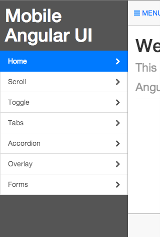 Mobile Angular UI
